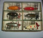 SIX FISHCAKE FISHING LURES IN DEALER BOX AND IN THEIR ORIGINAL BOXES & PAPERS EX