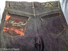 Eight 732 Jeans 38 x 34 Motor Club 8732 Custom Culture Zipper pockets Mens Pants