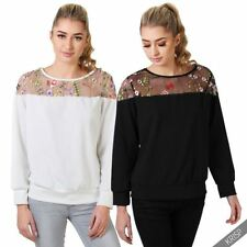 Embroidered Machine Washable Floral Tops for Women