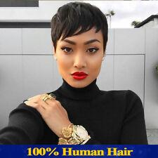 100% Virgin Short Brazilian Wigs Silky Curly Human Hair Heat Wig No Lace Wigs