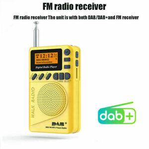 Mini DAB DAB+ FM Digital Radio Pocket MP3 Player Alarm Clock LED Screen Protable