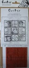 Crafty Individuals Unmounted Rubber Stamp, Birds, Bird Tiles, Boxy Birds CI-266