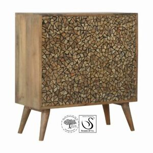 Tree Trunk Effect Abstract Cabinet