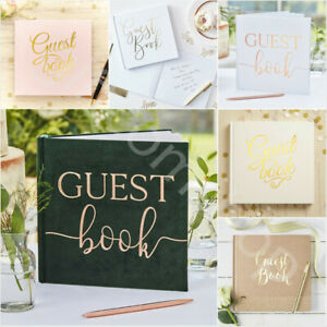 Plain Guest Book Sign Wedding Christening Baby Shower Birthday Hen Do Guest Book