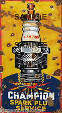 WEATHERED BUILDING DIORMA CHAMPION SPARK PLUG SERVICE SIGN HO O N SIGN DECAL