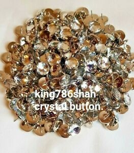 DIAMANTE CRYSTAL CLEAR UPHOLSTREY HEADBOARD BED BUTTONS AND FREE P&P