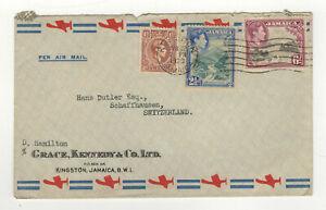 Jamaica Jamaïque 1939 oblit. Kingston timbres sur lettre /L4857