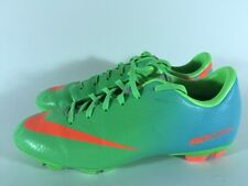 Nike Mercurial Soccer Cleats Neo Lime/Total Crimson/Silver Size 5Y MSRP $120.00
