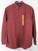 New Grizzly Chamois Flannel Shirt Red 2XL Mens XXL