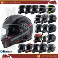 TORC T14 T-14B Mako Full Face Motorcycle Helmet DOT Standard or Bluetooth XS-2XL