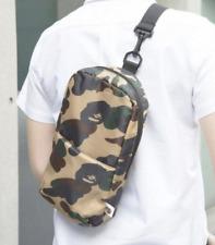 Mens BAPE A BATHING APE Camo Sling Shoulder Bag Handbag Backpack