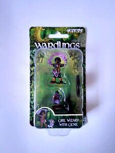 Wardlings Girl Wizard & Genie pet D&D Miniature Dungeons Dragons pathfinder A
