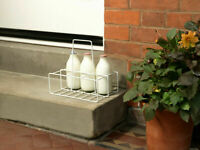 Supahome 6 Milk Bottle Holder Carrier Tidy Crate Rack Six Pint Bottles Carton