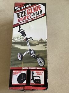 Eze glide One Touch Smart Fold White Golf trolley. NEW. Still In Box. Cost £125