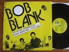 2LP VINYL BOB BLANK GENERATION BLANK TAPES NYC 1975 1987 SUN RA MILTON HAMILTON