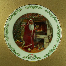 PERE NOEL International Victorian Santas Plate Collection LENOX 1997 Christmas