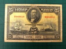 More details for latvia 1928 25 lati collectable banknote.