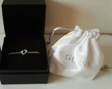 NEW Guess Ladies G Hearts Silver Tone  Bracelet