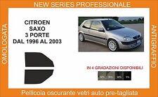 pellicola oscurante vetri pre tagliata citroen saxo 3p 1996-2003 kit anteriore