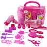 Girl Pretend Makeup Kit Play Toy Cosmetic Hair Styling Princess Hairdressing Set
