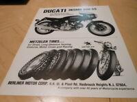 NOS NEW Vintage Brochure Ducati Desmo 900 SS