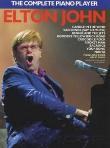 The Complete Piano Player Elton John Sheet Music Book 20 Songs Chords & Lyrics