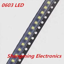 100pcs 0603 White LED lamp beads super bright SMD LED