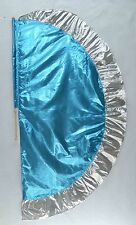 Turquoise/Silver Angel's Wing Flag with Pole - Christian Worship Dance