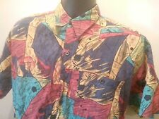 EXPRESSIONS WORLD WIDE SHORT SLEEVE BUTTON FRONT SHIRT Medium