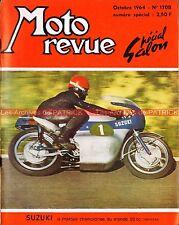 MOTO REVUE 1708 TRIUMPH T120 650 Bonneville 10 pages Spécial SALON 1964 28 pages
