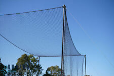 CW Heavy Duty Cricket Cage Net With Roof 100 X 10 Ft. Batting Practice Net + FS
