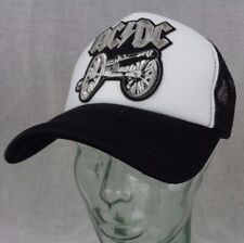 ac dc trucker hat mesh cap snapback cannon angus hard rock heavy metal