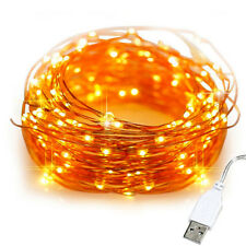 20M USB 200 LED Copper Wire String Fairy Light Strip Lamp Xmas Party Waterproof