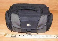 Genuine Case Logic Large 12 x 6 Black Camera / Camcorder Shoulder Bag / Case