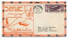 USA - San Pedro CA 1931 Goodyear Airship / Catapult Ship to Shore Airmail Cover