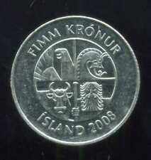 ISLANDE 5 kronur     2008