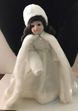 Old World Ceramic Faced Winter Doll
