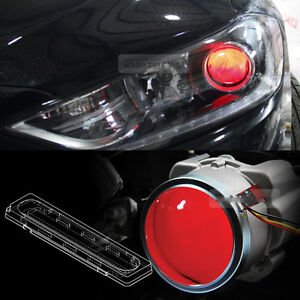 Devil Eye Head Light Projector Lens Red LED Module For HYUNDAI 2017-2018 Elantra
