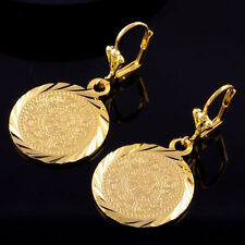 Earrings Solid 9ct Gold Filled Dangle Drop Coins Mother Gift Summer Tribal