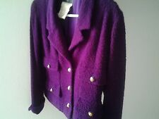Chanel boucle cropped jacket, vibrant PURPLE super rare.  Worn twice - Vintage