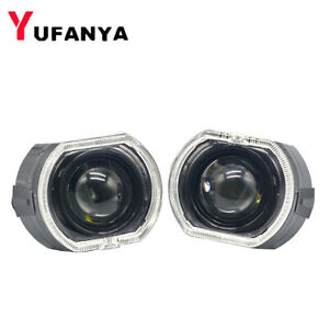3.0'' Bi xenon HID Projector Lens LED Angel Eyes Hi Lo Beam Headlight Retrofit