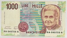 1000 LIRE BANCONOTA REPUBBLICA ITALIANA SERIE XA