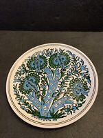 Manousakis Keramik Rodos Greece Hand Made Ceramic Floral Textured Plate 9.7""