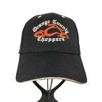 Orange County Choppers OCC Curve Brim Baseball Black Cap Hat One Size Adjustable