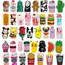 3D Cute Food Plant Animals Cartoon Soft Silicone Case Cover Skin Back For iPhone