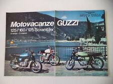 advertising Pubblicità 1973 MOTO GUZZI STORNELLO 125/125 SCRAMBLER/160
