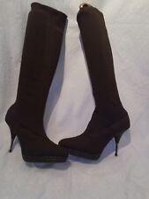Stella mccartney fabric ladies brown boots uk 36.5 ref bag05