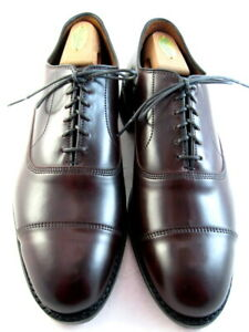 """NEW Allen Edmonds """"PARK AVENUE"""" Cap Shell Cordovan Oxfords 9.5 D Burgundy (520)"""