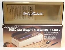 VINTAGE, LADY MICHELLE SONIC SILVERWARE & JEWELRY CLEANER great cond. in box