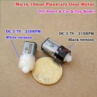 DC 3V 3.7V 10mm Planetary Precision Gearbox N10 Gear Motor Reducer DIY Robot Car